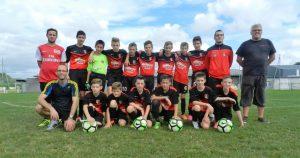 L'équipe U15 A, photo prise lors de la rencontre de Samedi pour la Coupe du District.